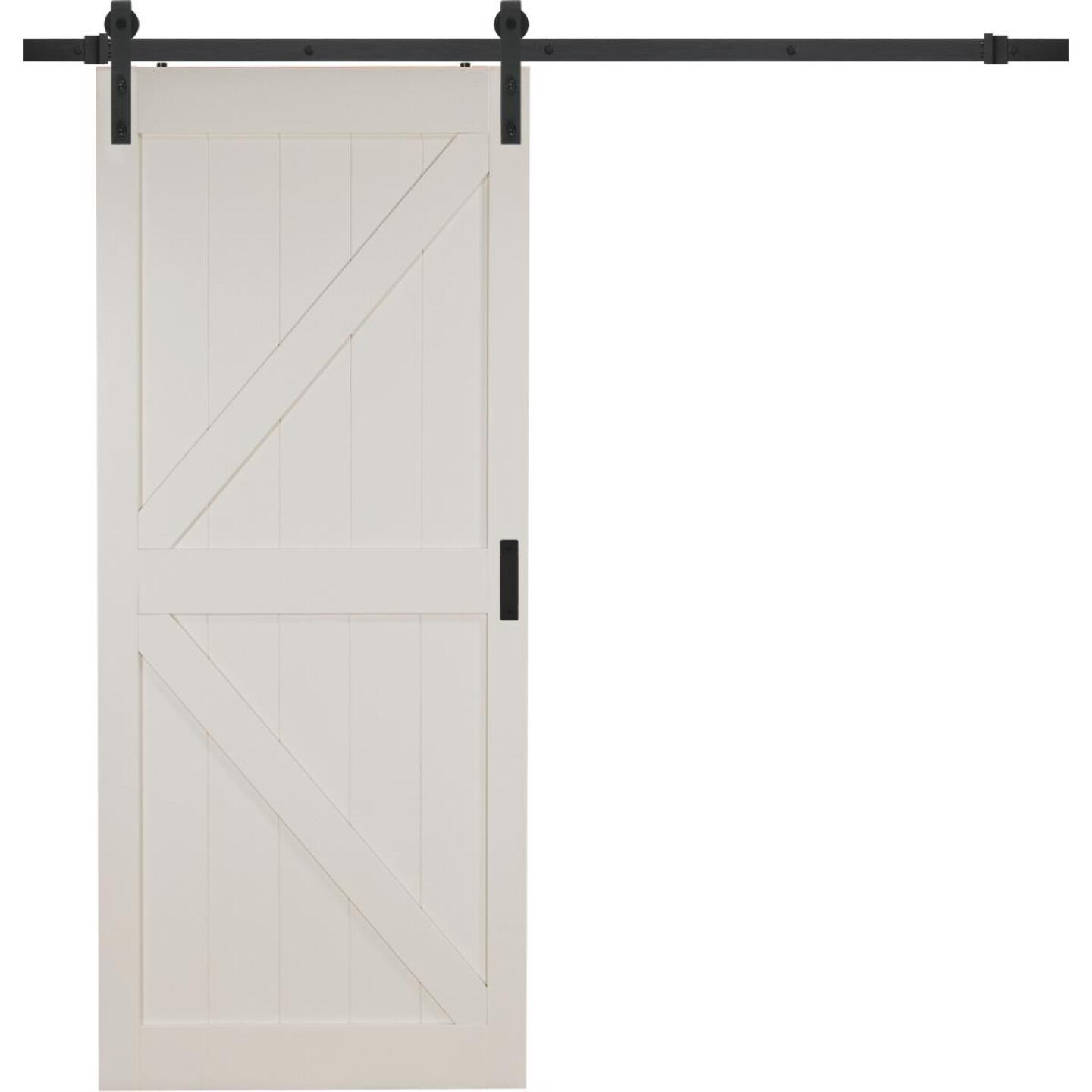Erias Home Designs 36 In. x 84 In. x 1-3/8 In. K-Style Stone Barn Door Kit Image 1