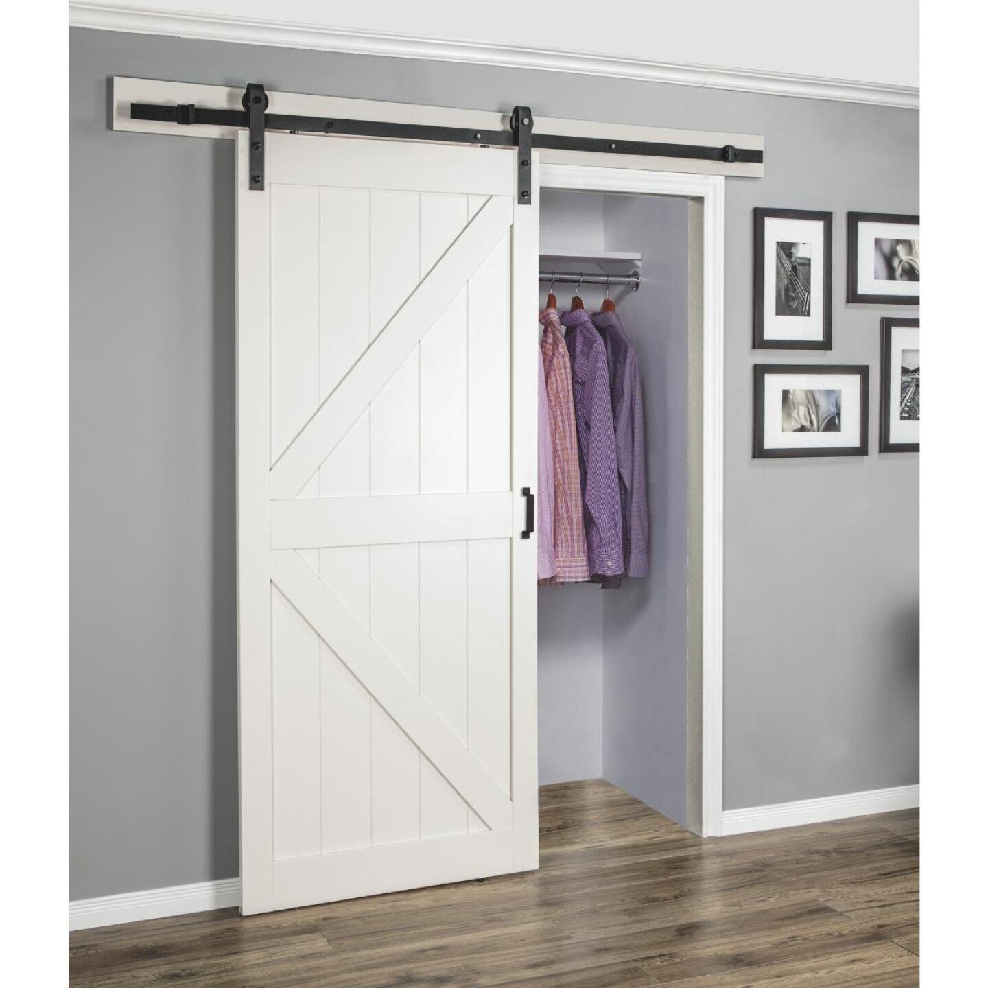 Erias Home Designs 36 In. x 84 In. x 1-3/8 In. K-Style Stone Barn Door Kit Image 2
