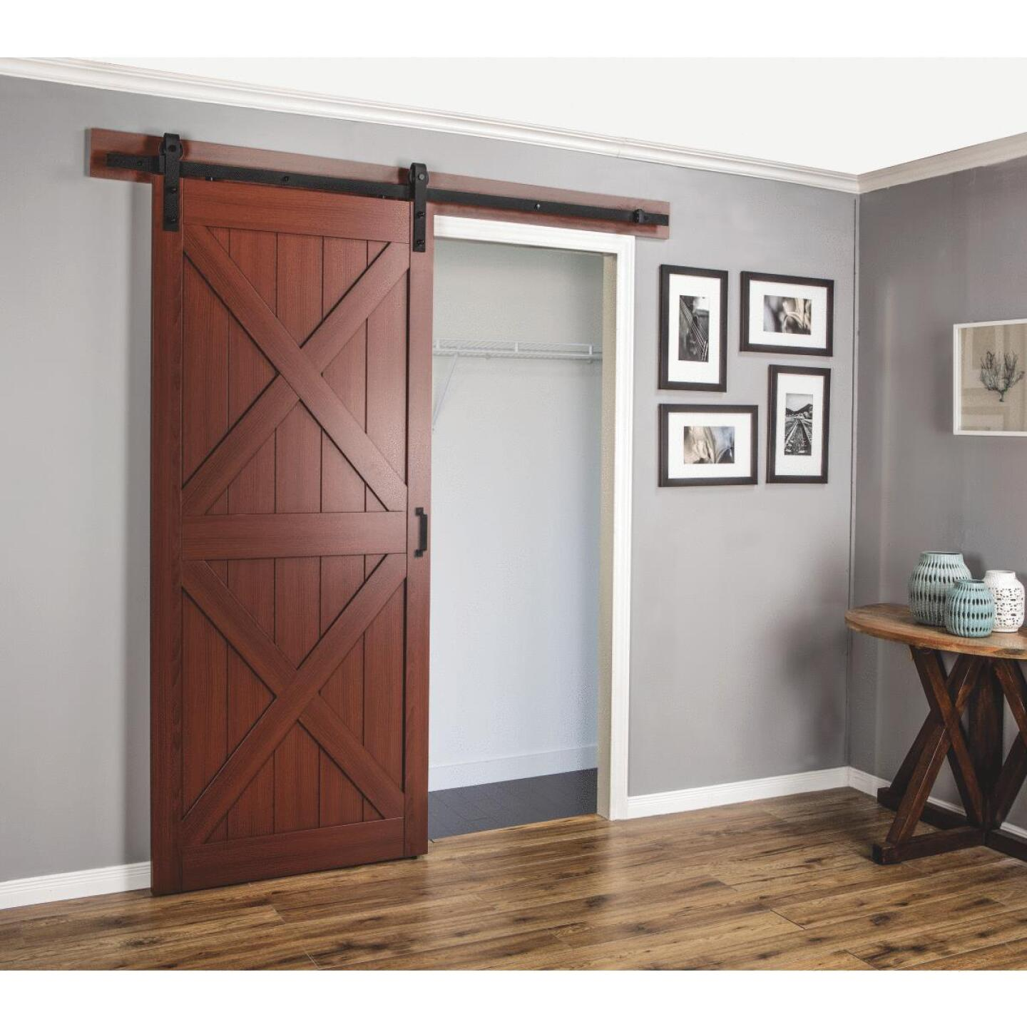 Erias Home Designs Sagrada 36 In. x 84 In. x 1-3/8 In. Double X-Style Barn Door Kit Image 2