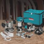 Makita 6.5A 10,000 to 30,000 rpm Router Kit Image 2