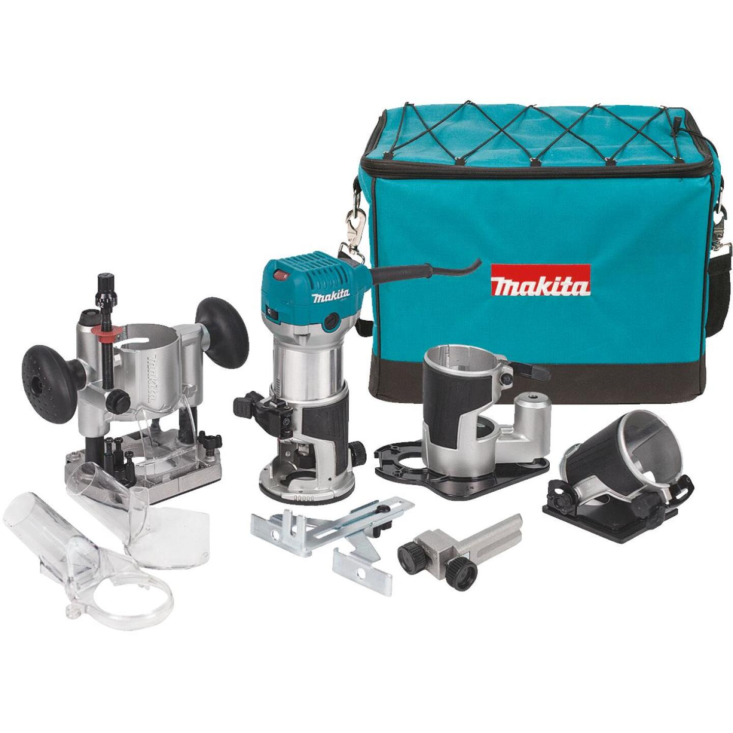 Makita 6.5A 10,000 to 30,000 rpm Router Kit Image 1