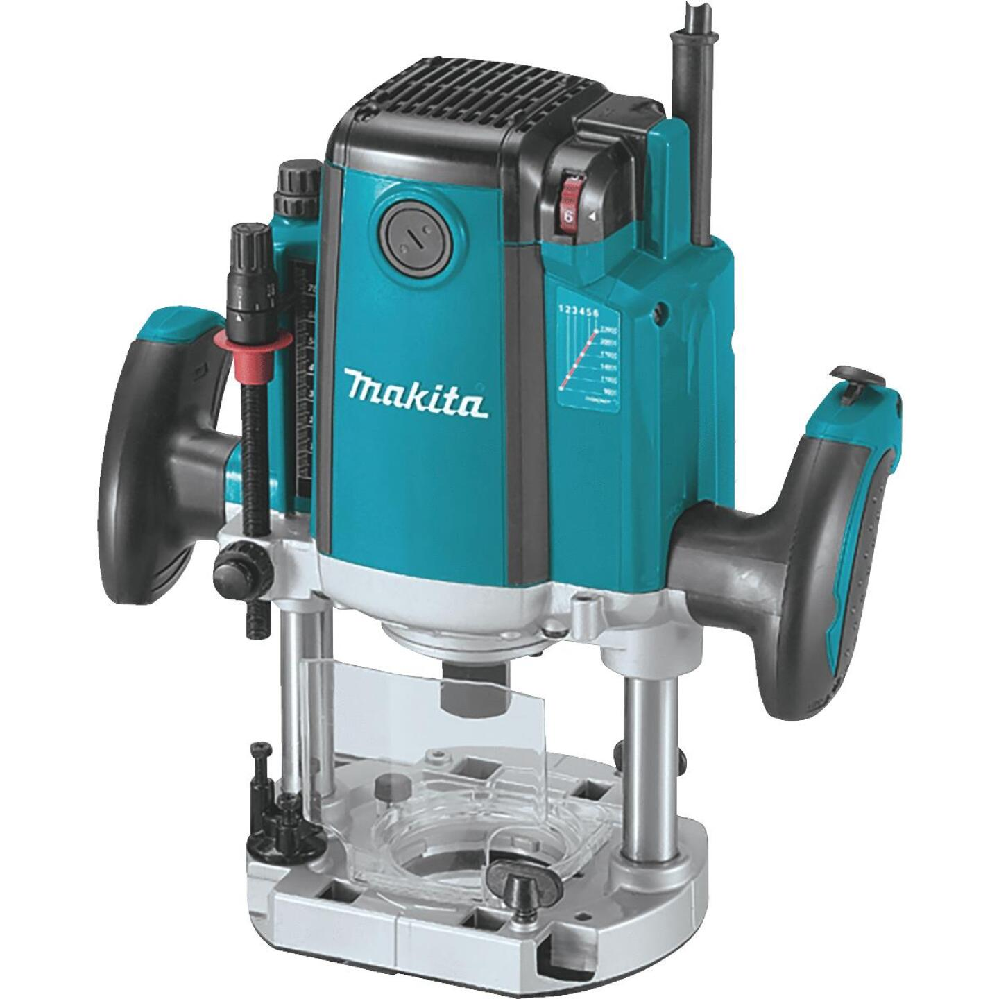 Makita 3-1/4 HP/15A 9000 to 22,000 rpm Plunge Router Image 1