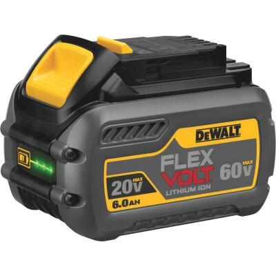 DeWalt Flexvolt 20 Volt and 60 Volt MAX Lithium-Ion 6.0 Ah Tool Battery