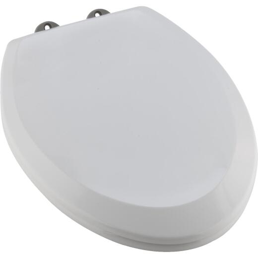 Home Impressions Elongated Closed Front Slow Close White Plastic Toilet Seat