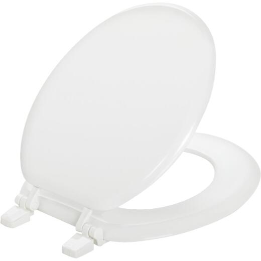 Mayfair Round Closed Front White Wood Toilet Seat