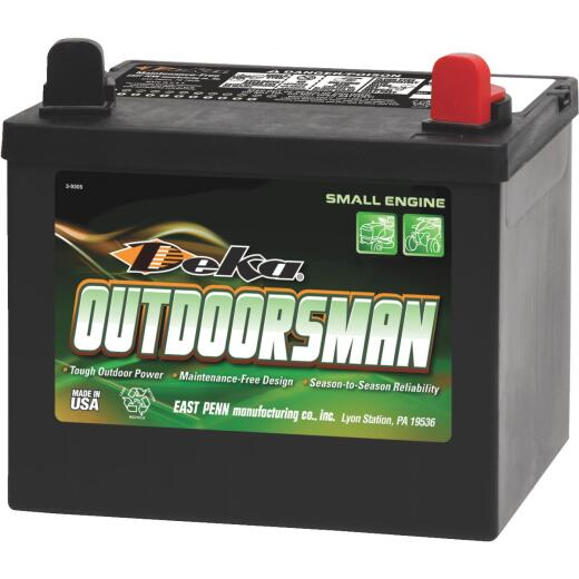 Deka Outdoorsman 12-Volt Lawn & Garden 300 CCA Small Engine Battery, Right Front Positive Terminal
