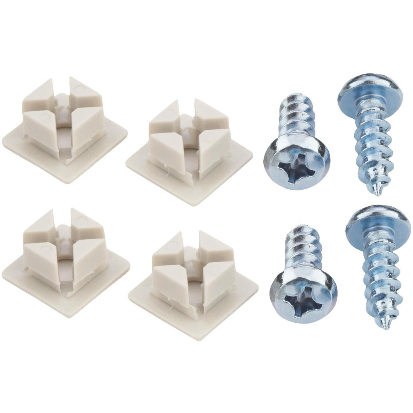 Custom Accessories White License Plate Fasteners Image 1