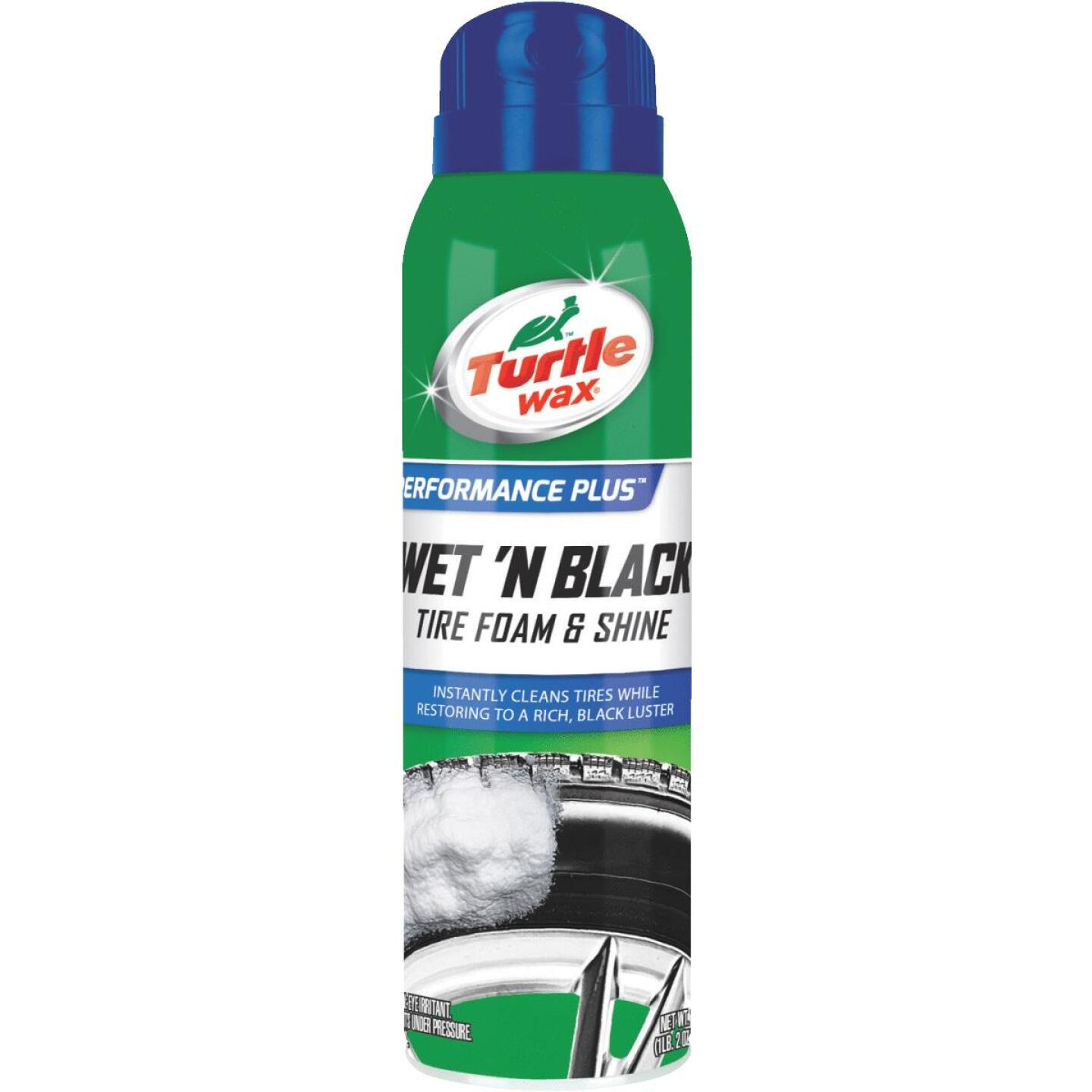 Turtle Wax Wet 'N Black 18 Oz. Aerosol Spray Foam Tire Shine Image 1