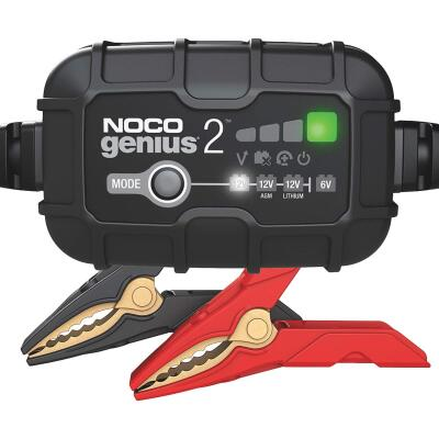 NOCO Genius 6V and 12V 2A Auto Battery Charger, Battery Maintainer, and Battery Desulfator