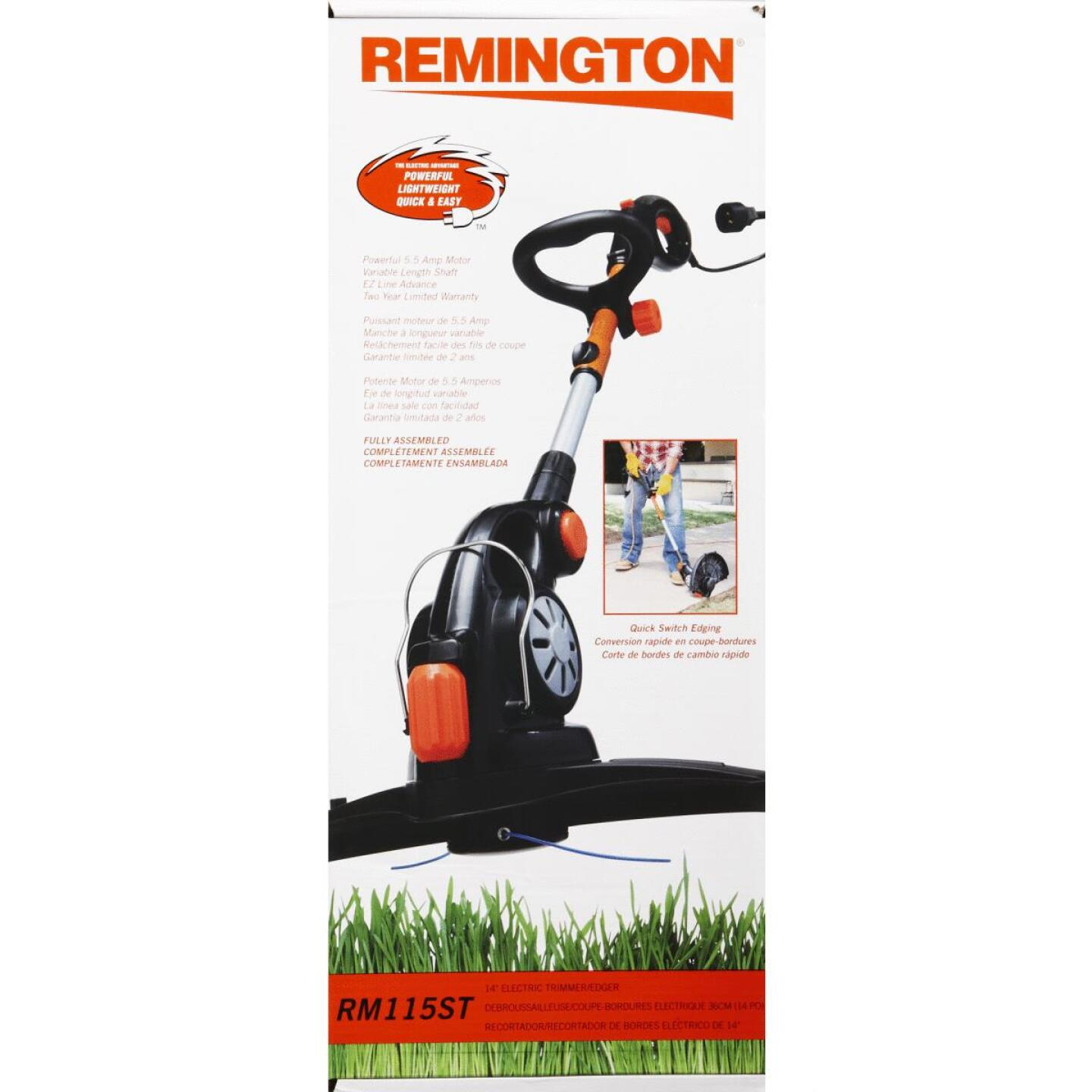 Remington RM115ST 14 In. 5.5-Amp Straight Shaft Corded Electric String Trimmer/Edger Image 4