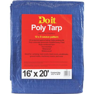 Do it 16 Ft x 20 Ft Blue Medium Duty Tarp