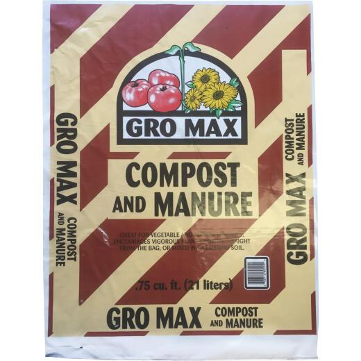 Gro Max 40 Lb. 3/4 Cu. Ft. Composted Cow Manure