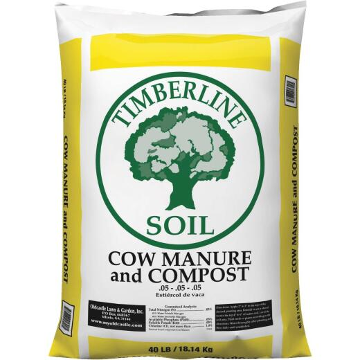 Timberline 40 Lb. 57 Sq. Ft. Coverage Cow Manure & Compost