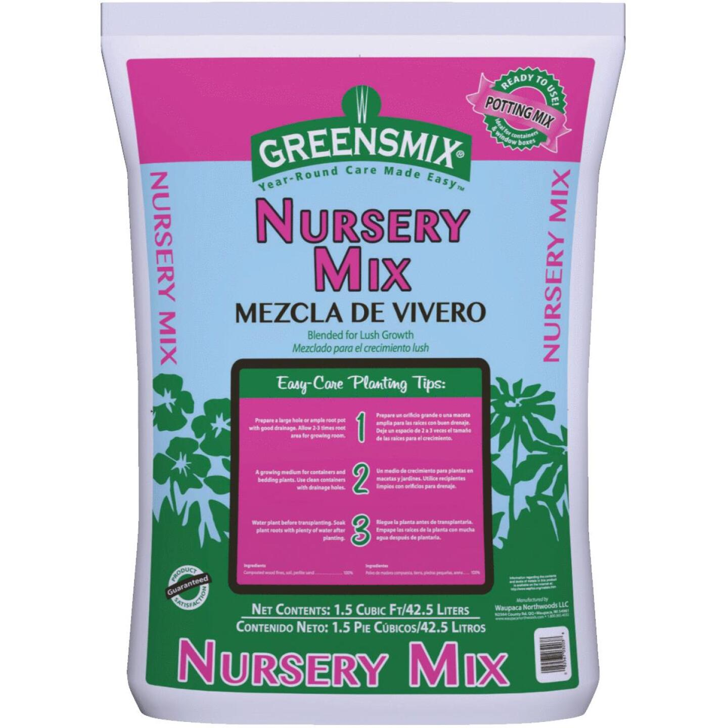 Greensmix Nursery Mix 1.5 Cu. Ft. 40 Lb. All Purpose Potting Soil Image 1