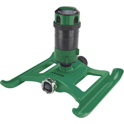 Dramm Metal Adjustable Green Gear Drive Sprinkler