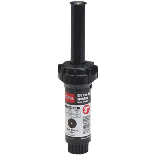 Toro 3 In. 0 Deg. to 360 Deg. Pop-Up Head Lawn Sprinkler