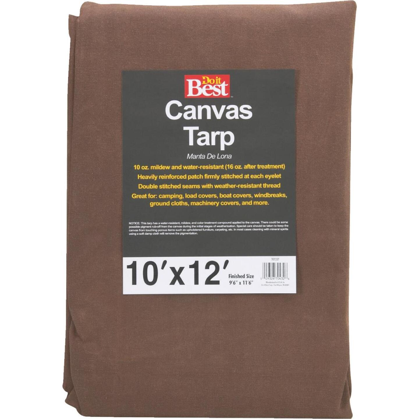 Do it Best 10 Oz. 10 Ft. x 12 Ft. Canvas Tarp Image 1