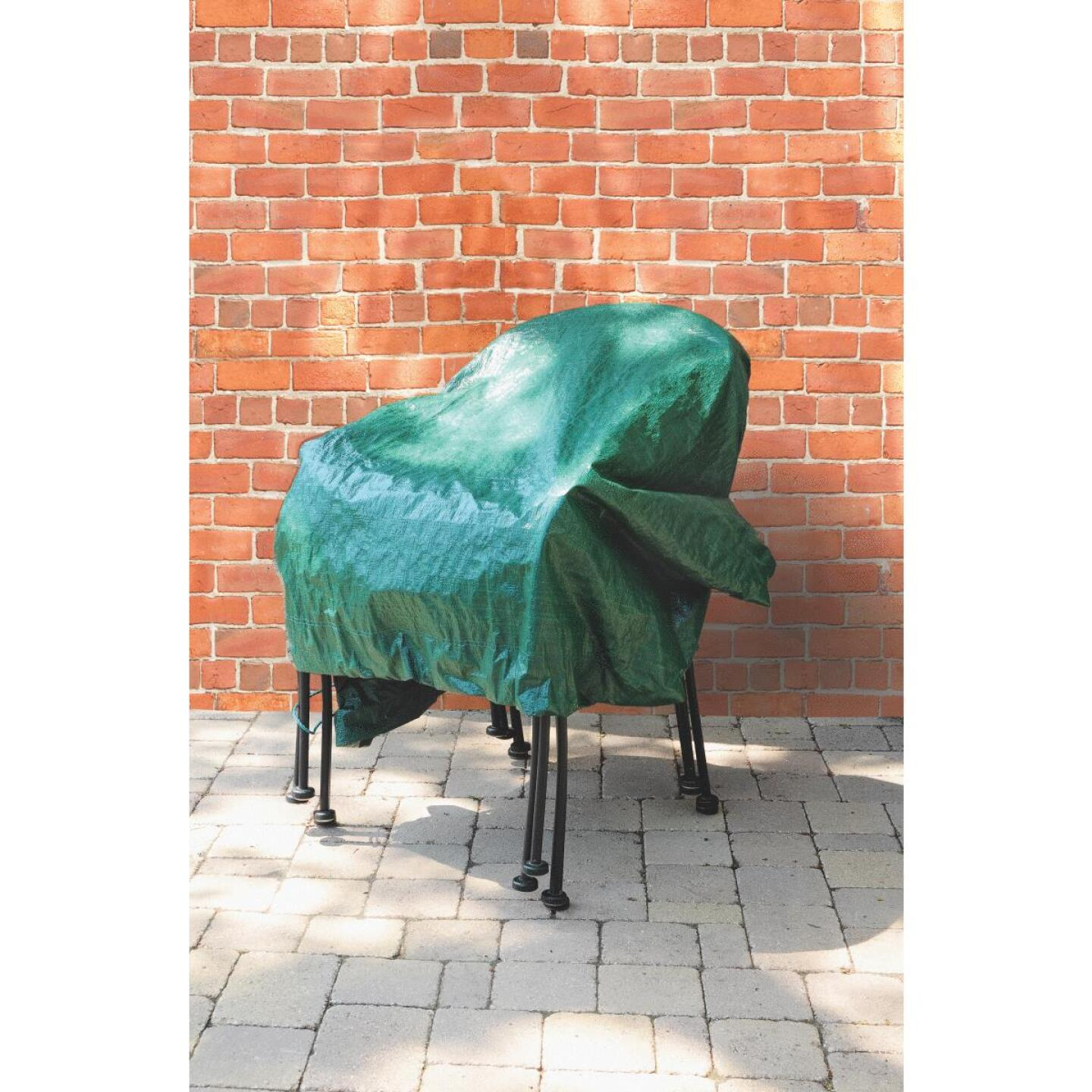 Do it 6 Ft. x 6 Ft. Poly Fabric Green Lawn Cleanup Tarp Image 7