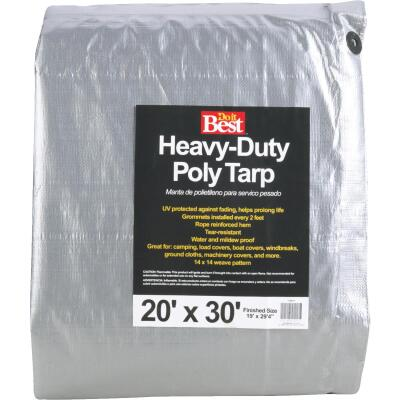 Do it Best Silver Woven 20 Ft. x 30 Ft. Heavy Duty Poly Tarp