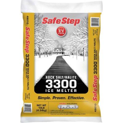 Safe Step 3300 10 Lb. Rock Salt/Halite Ice Melt Large Pellets