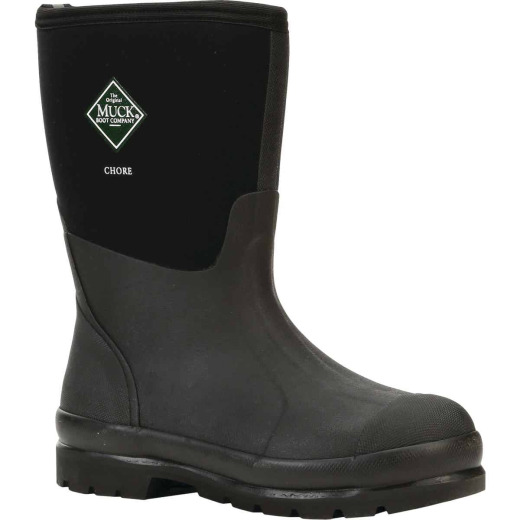 Muck Chore Mid Men's Size 13 Black Rubber Work Boot